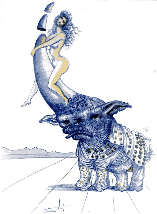 Girl on Rhino