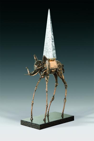 Eléphant spatial bronze sculpture dali