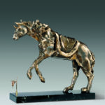 cheval à la montre molle sculpture dali