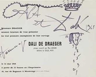 Dédicace au feutre Dali de Draeger