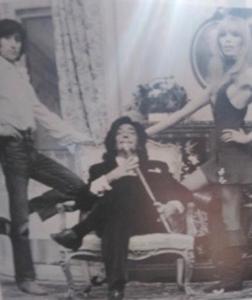 Dali, Amanda et le chanteur et chorégraphe Antonio Gades au Meurice