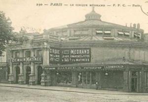 Le cirque Medrano boulevard rochechouart Paris