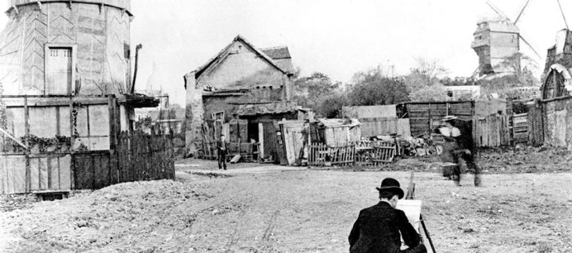 Photo début du siècle montmartre et les peintres rue giradon