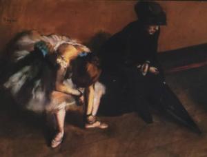 L'attente - Edgar Degas