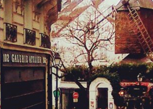 photo moulin de la galette rue lepic paris dali