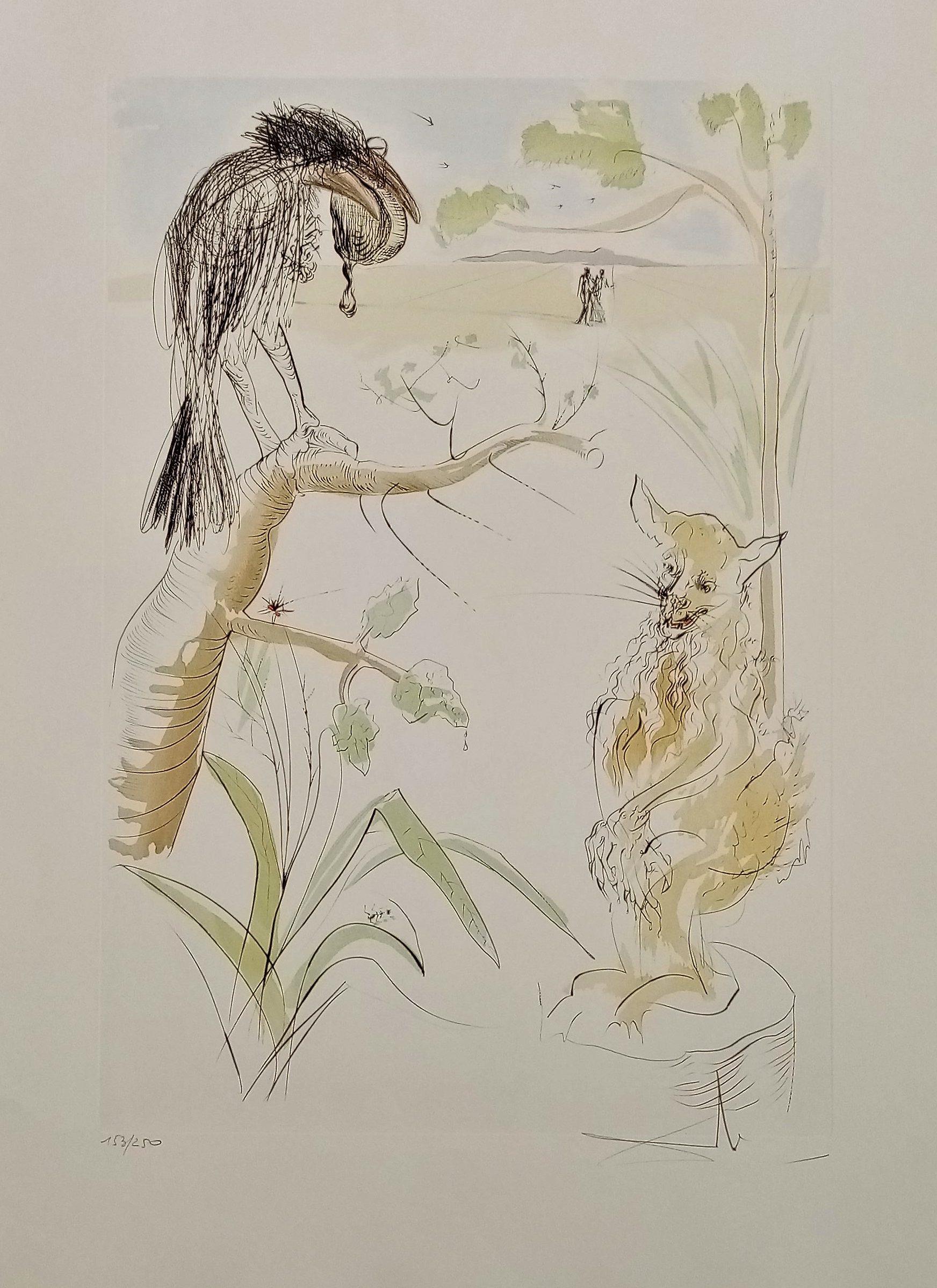 le corbeau et le renard bestiaire de la fontaine dali