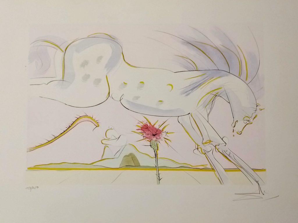 le cheval et le loup fables bestiaire de la fontaine dali